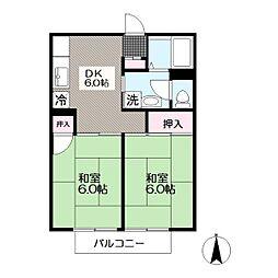 東京都江戸川区南葛西4丁目の賃貸アパートの間取り