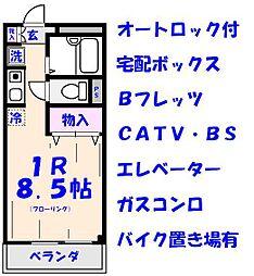 エクセル貴多川第5B棟[5219号室]の間取り