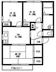 神奈川県横浜市保土ケ谷区東川島町の賃貸アパートの間取り