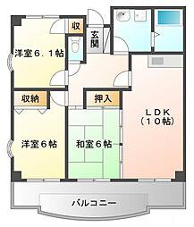 カルム土井[7階]の間取り