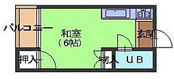 カジヤマアパート[2階]の間取り