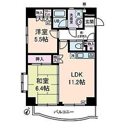 ハウス171 4階2LDKの間取り