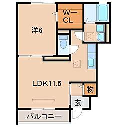 ルーチェモルト[1階]の間取り
