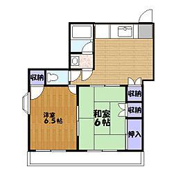 パストラルハイム三鈴[1階]の間取り