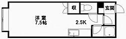 ハイツ白石[203号室]の間取り