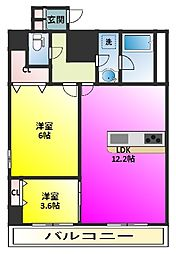 Crest Mabashi[6階]の間取り