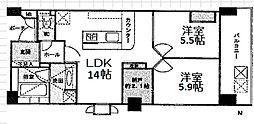 プリオーレ京都高倉六角[4C号室]の間取り