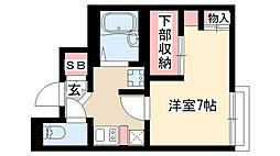 愛知県名古屋市昭和区広路本町1丁目の賃貸アパートの間取り