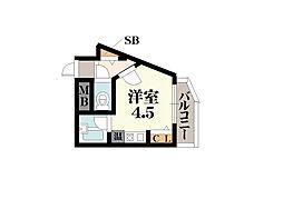 東大阪レジデンス[201号室]の間取り