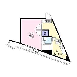 K'sハウス[303号室]の間取り