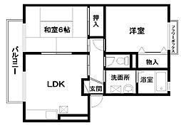リスペクトD棟[1階]の間取り