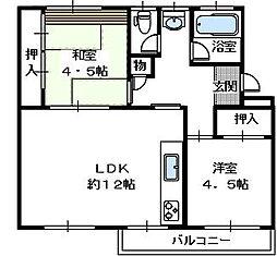 狭山住宅7棟[1階]の間取り