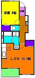 [テラスハウス] 静岡県磐田市見付 の賃貸【静岡県 / 磐田市】の間取り
