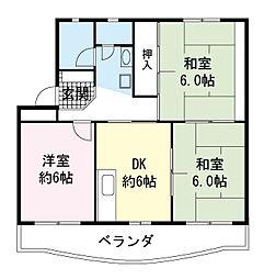 久川ハイツ[2階]の間取り