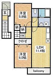 デスパシオI[2階]の間取り