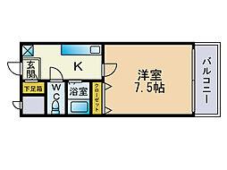 PLEAST薬院南[6階]の間取り