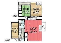 [一戸建] 千葉県千葉市中央区生実町 の賃貸【千葉県 / 千葉市中央区】の間取り
