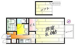 メドウズ[2階]の間取り