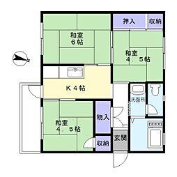 東芝杉田コーポ[4階]の間取り