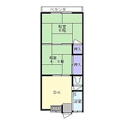 吉川マンション[2階]の間取り