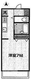 東京都豊島区目白3丁目の賃貸アパートの間取り