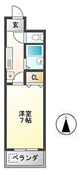 DH白鳥[3階]の間取り