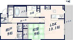 フラワーガーデンイースト 1階1SLDKの間取り