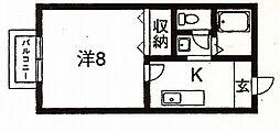 セジュールサンハウス[105号室号室]の間取り