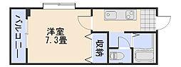 フォブール井川[102号室]の間取り