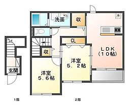 ICHIRI 庵[2階]の間取り