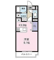 ヴァンベール46[3階]の間取り
