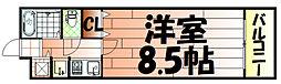 サーパス小倉[708号室]の間取り