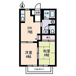 オークハイツ5[2階]の間取り