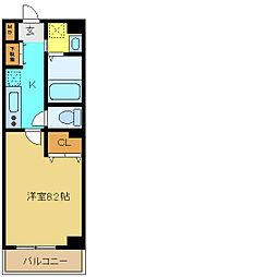 埼玉県さいたま市中央区上落合5丁目の賃貸マンションの間取り