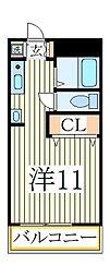プレジデンス細川[2階]の間取り
