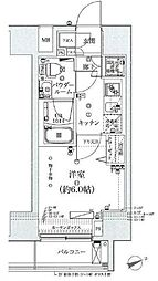 東京都品川区荏原6丁目の賃貸マンションの間取り