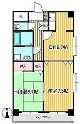 プラーナ泉中央[7階]の間取り