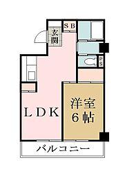 埼玉県草加市手代町の賃貸マンションの間取り
