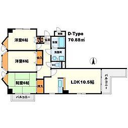 東明マンション江坂II[9階]の間取り