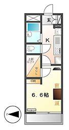 レオパレスメゾン長戸井[3階]の間取り
