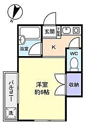 オネスティ北習弐番館[2階]の間取り