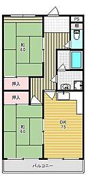アマ・センターハイツ[302号室]の間取り