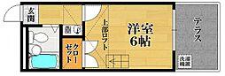 サニーコート松原[1階]の間取り