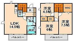 [テラスハウス] 兵庫県伊丹市野間2丁目 の賃貸【/】の間取り