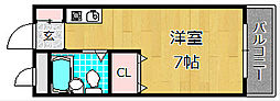 大阪府枚方市牧野阪2丁目の賃貸アパートの間取り