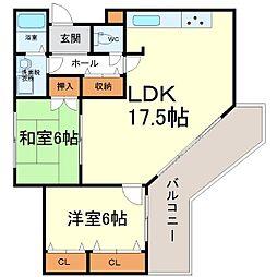 アミング潮江15−3[4階]の間取り