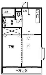 ZIPANGU参番館[310号室]の間取り