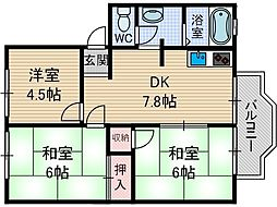 シャロームA棟[2階]の間取り