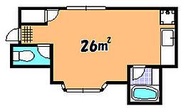 北大伴コーポ 3F[3階]の間取り
