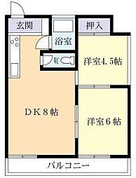 リバーサイドF・K[8階]の間取り